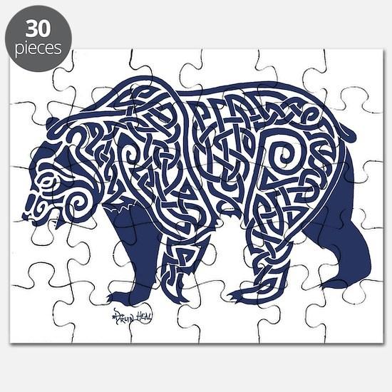 Bear Knotwork Blue Puzzle