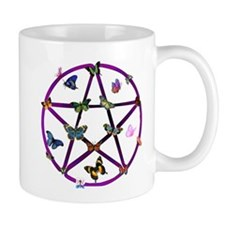 Wiccan Star and Butterflies Small Mug