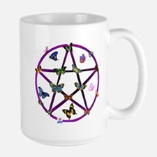 Wiccan Star and Butterflies Mug