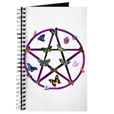 Wiccan Star and Butterflies Journal