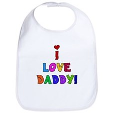 I Love Daddy Baby Bib