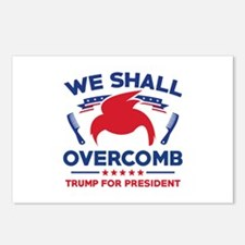 Trump We Shall Overcomb Postcards (Package of 8)
