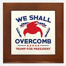 Trump We Shall Overcomb Framed Tile