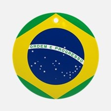 Brazil Flag Ornament (Round)