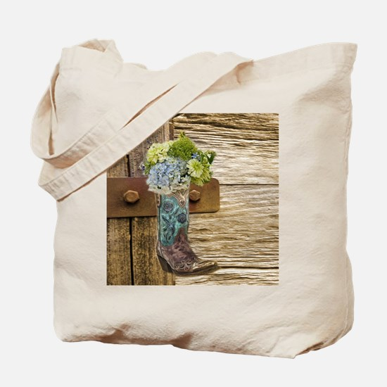 flower western country cowboy boots Tote Bag