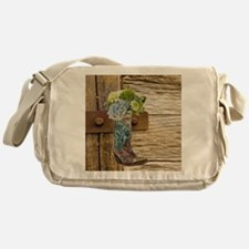 flower western country cowboy boots Messenger Bag