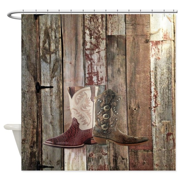 Country western shower curtains