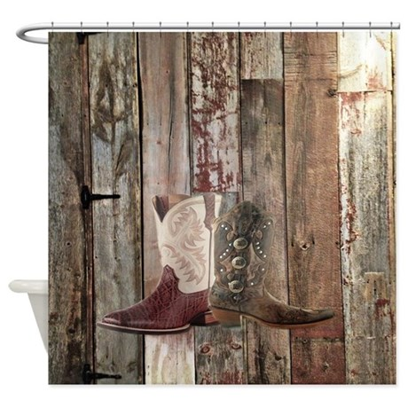 Vintage Western Country Cowboy Shower Curtain By Listing