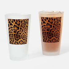 girly trendy leopard print Drinking Glass