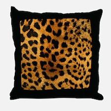 girly trendy leopard print Throw Pillow