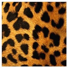 girly trendy leopard print Poster