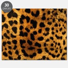 girly trendy leopard print Puzzle