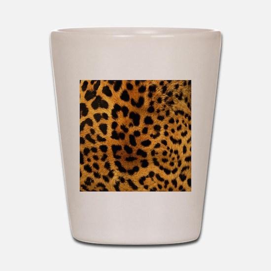 girly trendy leopard print Shot Glass