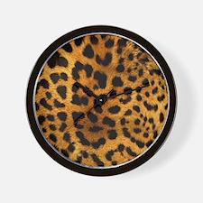 girly trendy leopard print Wall Clock