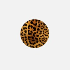 girly trendy leopard print Mini Button