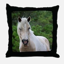 Assateague horse 3 Throw Pillow