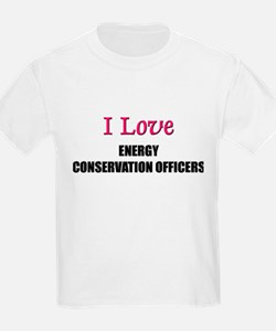 I Love ENERGY CONSERVATION OFFICERS T-Shirt