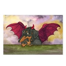 Batwing Weiner Dog Postcards (Package of 8)