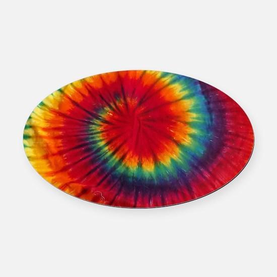 Tie Dye Oval Car Magnet
