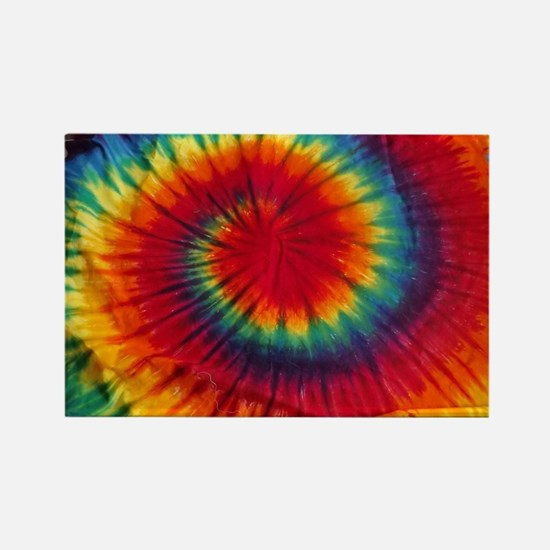 Tie Dye Rectangle Magnet