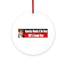 Donald Trump Comb Over Ornament (Round)