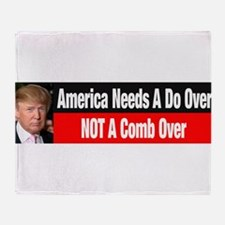 Donald Trump Comb Over Throw Blanket