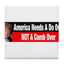 Donald Trump Comb Over Tile Coaster