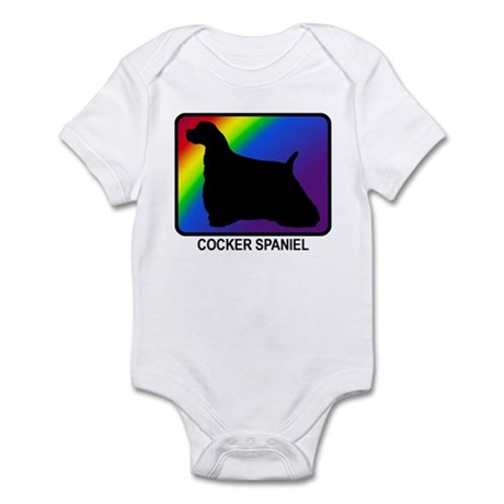 Cocker Spaniel (rainbow) Infant Bodysuit
