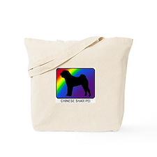 Chinese Shar Pei (rainbow) Tote Bag