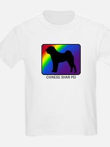 Chinese Shar Pei (rainbow) T-Shirt