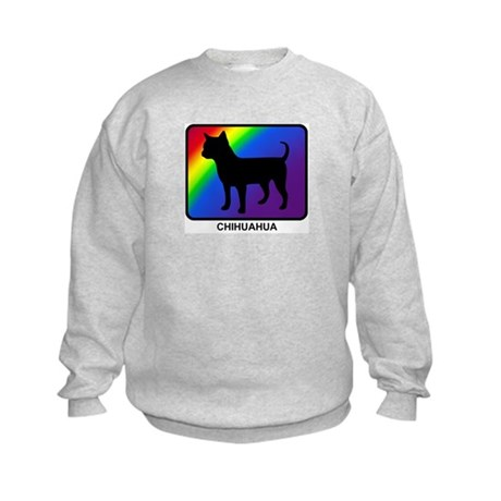 Chihuahua (rainbow) Kids Sweatshirt