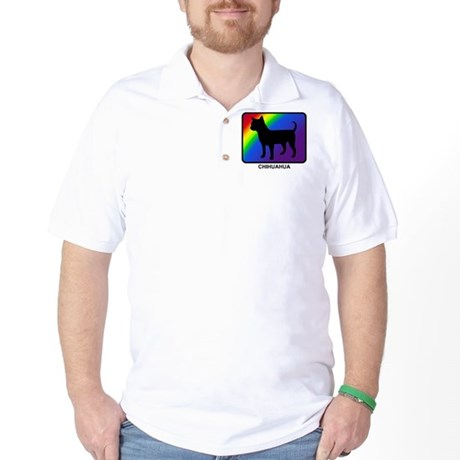 Chihuahua (rainbow) Golf Shirt