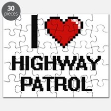 I love Highway Patrol Puzzle