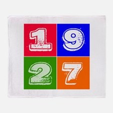 1927 Birthday Designs Throw Blanket