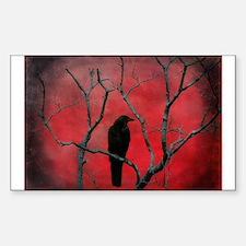 Unique Crow Sticker (Rectangle)