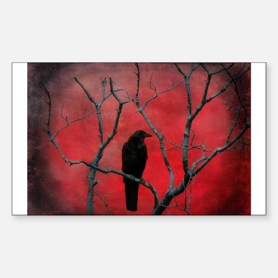 Cute Raven Sticker (Rectangle)