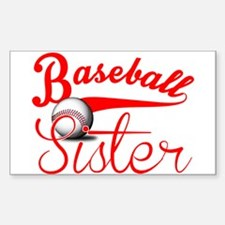 Baseball Sister Decal