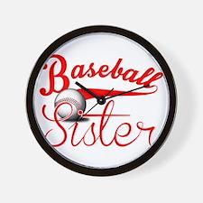Baseball Sister Wall Clock