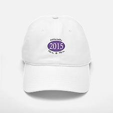 Officially Mrs. & Mrs. 2015 Purple Baseball Baseball Cap