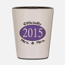 Officially Mrs. & Mrs. 2015 Purple Shot Glass