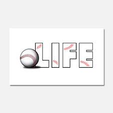 Baseball Life Car Magnet 20 x 12