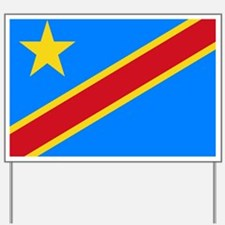 DOMINICAN REPUBLIC OF THE CONGO FLAG Yard Sign