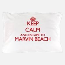 Keep calm and escape to Marvin Beach C Pillow Case