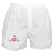 Keep calm and escape to Marvin Beach Boxer Shorts