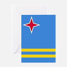 ARUBA FLAG Greeting Cards