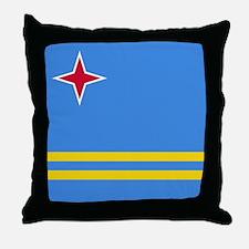 ARUBA FLAG Throw Pillow