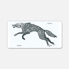 Gray Wolf Aluminum License Plate