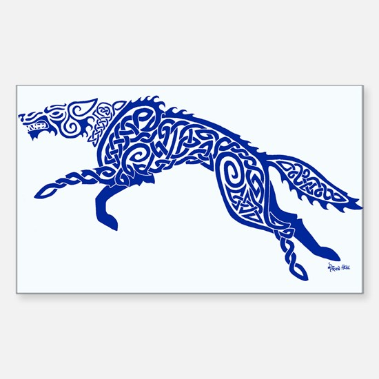 Blue Wolf Decal