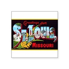 "Cute Missouri Square Sticker 3"" x 3"""
