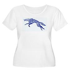 Blue Wolf Plus Size T-Shirt